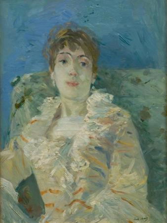 Girl on a Divan, Ca 1885 by Berthe Morisot