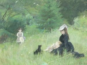 In a Park, circa 1874 by Berthe Morisot