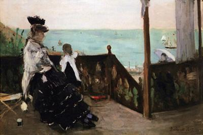 In a Villa on the Beach by Berthe Morisot