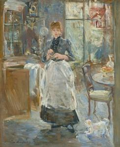 In the Dining Room, 1886 by Berthe Morisot