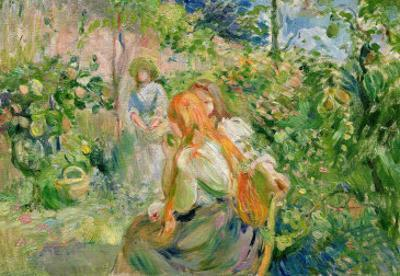 In the Garden at Roche-Plate, 1894 by Berthe Morisot