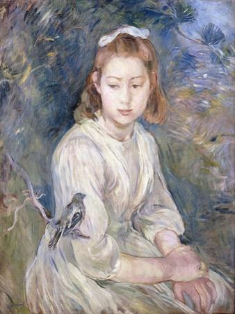 Little Girl with a Bird (Petite Fille a l'Oiseau). 1891 by Berthe Morisot