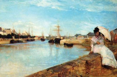 Port at Loby by Berthe Morisot