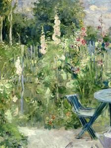 Roses Tremieres (Hollyhocks), 1884 by Berthe Morisot