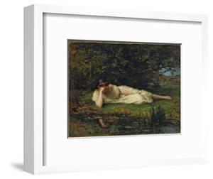 Study at the water's edge, 1864 by Berthe Morisot by Berthe Morisot