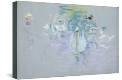 Swans, 1885 (Pastel on Paper)