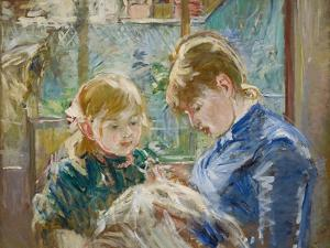The Artist's Daughter, Julie, with Her Nanny, C.1884 by Berthe Morisot