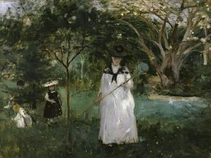 The Butterfly Hunt, c.1874 by Berthe Morisot