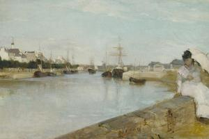 The Harbour at Lorient, 1869 by Berthe Morisot