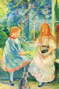 Two Girls by the Window by Berthe Morisot