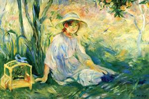 Under the Orange Tree by Berthe Morisot