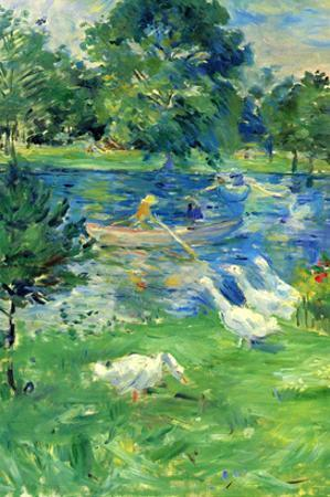 View in Bologne by Berthe Morisot