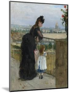 Woman and child on a balcony, 1872 by Berthe Morisot
