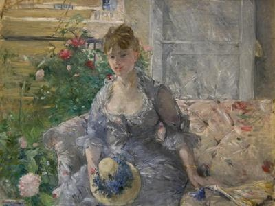 Woman Seated on a Sofa
