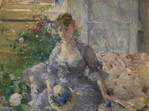 Woman Seated on a Sofa by Berthe Morisot