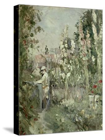Young Boy in the Hollyhocks