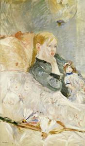 Young Girl with a Puppet by Berthe Morisot