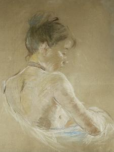 Young Girl With Naked Shoulders by Berthe Morisot