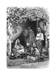 An Arab Family of Tlemcen, Algeria, C1890 by Bertrand