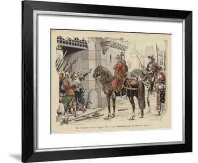 Bertrand Du Guesclin Abandoned by His Bretons-Paul de Semant-Framed Giclee Print