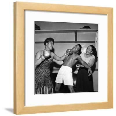 Sugar Ray Robinson, Ruth Brown, and Blanche Calloway