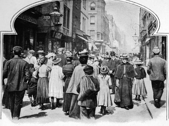 Berwick Street on a Sunday morning, c1901 (1901)-Unknown-Photographic Print