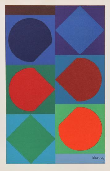 Beryll, from Souvenirs de Portraits d'Artistes. Jacques Prevert: Le Coeur l'ouvre-Victor Vasarely-Collectable Print