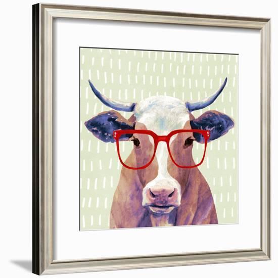 Bespectacled Bovine I-Victoria Borges-Framed Art Print