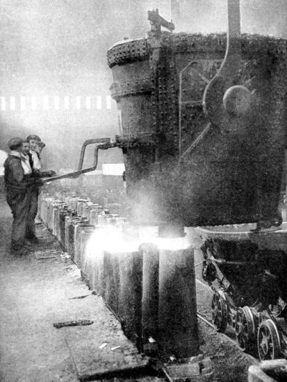 Bessemer Process for Manufacturing Steel, 1936--Giclee Print