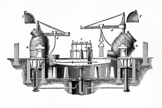 'Bessemer's Steel-converting Apparatus', c1917-Unknown-Giclee Print