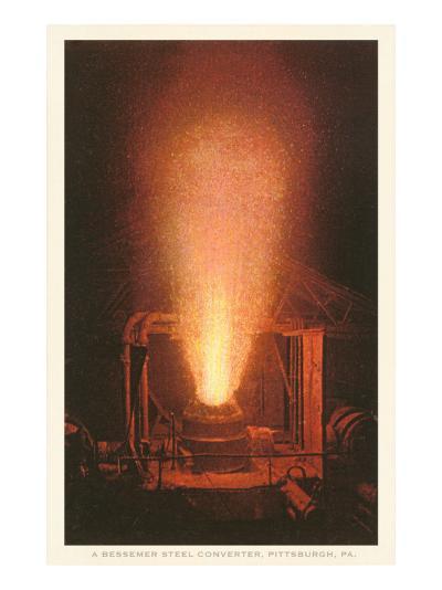 Bessemer Steel Converter, Pittsburgh, Pennsylvania--Art Print
