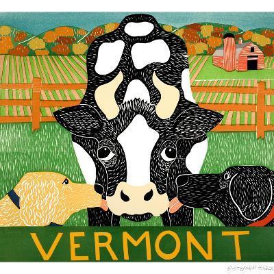 Bessie Vermont Black Autumn-Stephen Huneck-Giclee Print