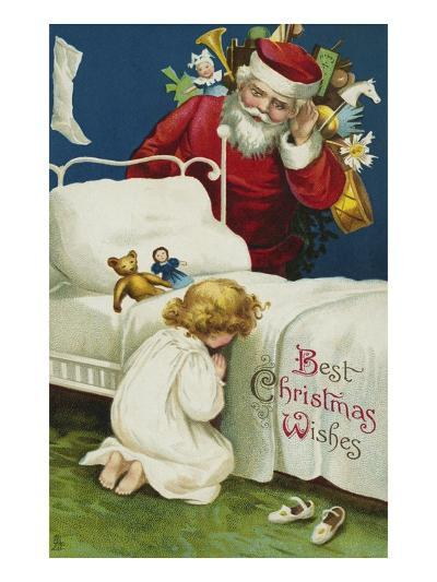Best Christmas Wishes-Ellen H^ Clapsaddle-Giclee Print
