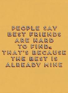 Best Friend Hard to Find