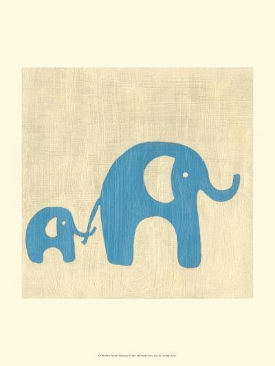 Best Friends - Elephants-Chariklia Zarris-Art Print