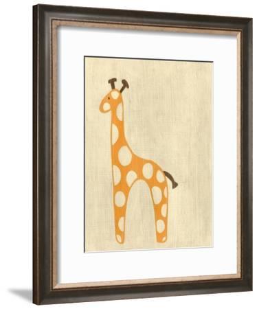 Best Friends - Giraffe-Chariklia Zarris-Framed Art Print