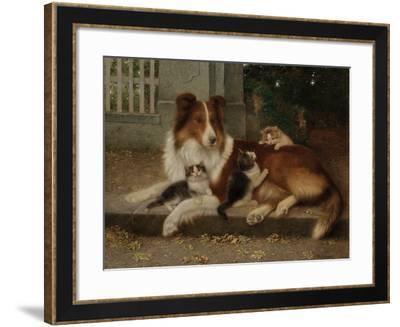 Best of Friends, 1906-Wilhelm Schwar-Framed Giclee Print
