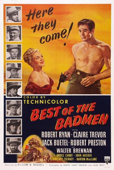 Best of the Badmen, from Left: Claire Trevor, Robert Ryan, 1951--Art Print