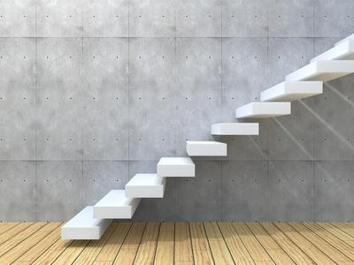 Concept Or Conceptual White Stone Or Concrete Stair Or Steps