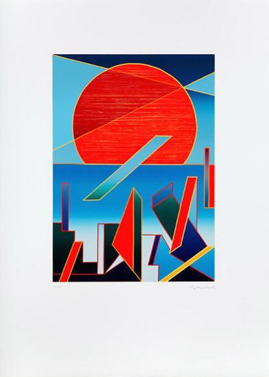 Bestrahlte Sonne-Ludwig Gebhard-Limited Edition