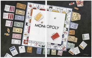 Monopoly Diptych by Bet Borgeson