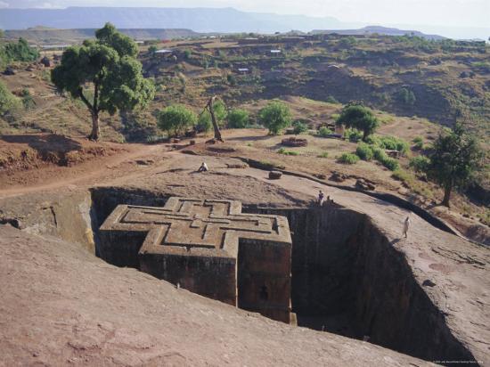 Bet Giorgis, Rock Cut Church, Lalibela, Ethiopia, Africa-Julia Bayne-Photographic Print