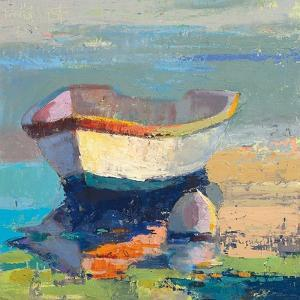 Bottle Green Boat by Beth A^ Forst