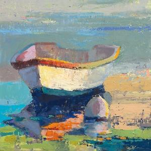 Bottle Green Boat by Beth A. Forst