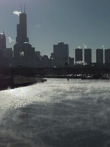 Chicago River Sears Tower by Beth A. Keiser