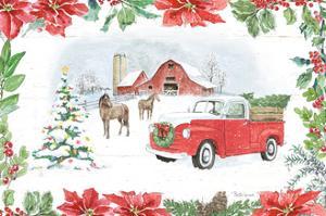 Farmhouse Holidays I by Beth Grove