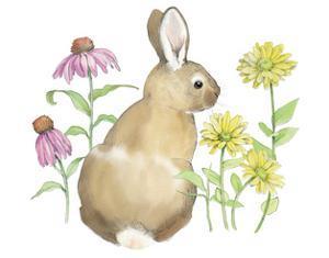 Wildflower Bunnies I by Beth Grove