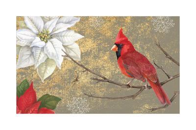 Winter Birds Cardinal 16x16