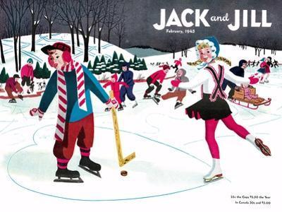 Skating Fun - Jack and Jill, February 1945