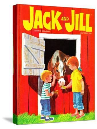 Feeding the Horse - Jack and Jill, July 1966